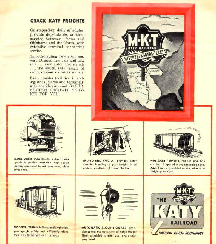 Ad for Katy freight service