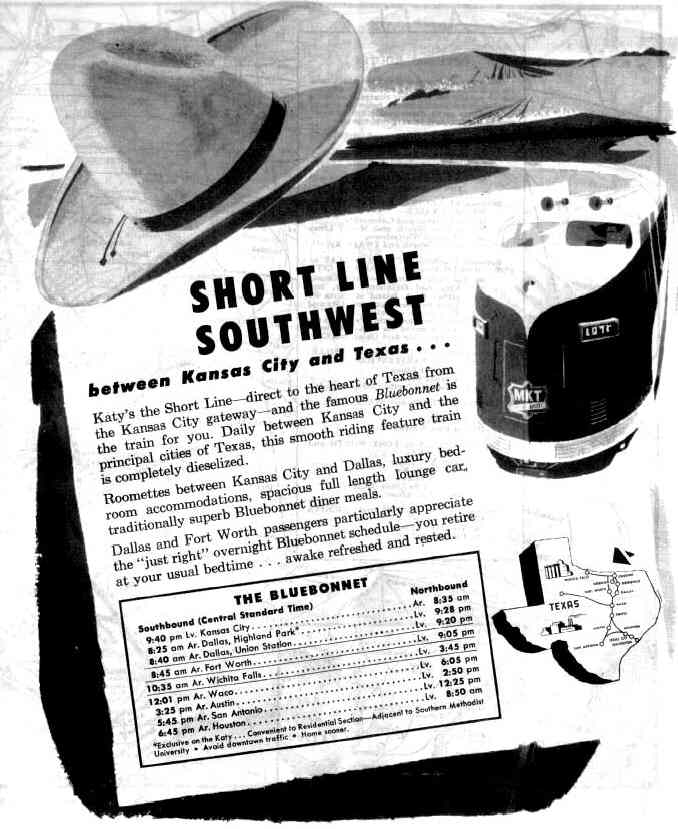 Ad for the Bluebonnet
